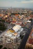 Palacio de Bellas Artes i Mexico - stad royaltyfri fotografi