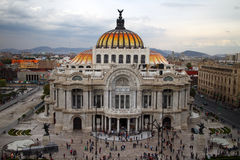 Palacio de Bellas Artes in Mexico City. MEXICO CITY, MEXICO -  DEC, 30, 2013: The Palacio de Bellas Artes (Palace of Fine Arts) is the most important cultural Royalty Free Stock Photos