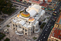 Palacio de Bellas Artes in Mexico City. MEXICO CITY, MEXICO -  DEC, 30, 2013: The Palacio de Bellas Artes (Palace of Fine Arts) is the most important cultural Stock Photo