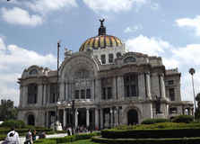 Palacio de Bellas Artes, Mexiko City stockbilder