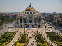 Palacio De Bellas Artes pałac sztuki piękne CDMX fotografia stock