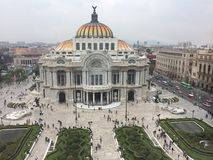 Palacio de Bellas Artes. Palace of Bellas Artes in Ciudad, México Stock Photography