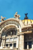 Palacio de Bellas Artes in Mexico City. Palacio de Bellas Artes or Palace of Fine Arts, a famous theater,museum and music venue in Mexico City Royalty Free Stock Images