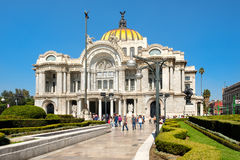 The Palacio de Bellas Artes or Palace of Fine Arts in Mexico City Royalty Free Stock Photo