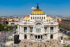 Palacio de Bellas Artes or Palace of Fine Arts in Mexico City. Palacio de Bellas Artes or Palace of Fine Arts at the historic center of Mexico City Royalty Free Stock Photography