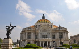 The Palacio de Bellas Artes (Palace of Fine Arts) Royalty Free Stock Images