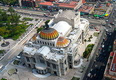 The Palacio de Bellas Artes (Palace of Fine Arts) Royalty Free Stock Photos