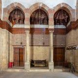 Palacio de Beshtak, un palacio histórico antiguo construido en la era de Mamluk, situada en la calle de Muizz, distrito de Gamali Imagen de archivo