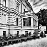 Palacio de Biedrusko Mirada artística en blanco y negro Imágenes de archivo libres de regalías