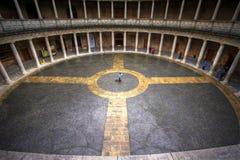 Palacio De Carlos V, Alhambra, a Andaluzia, Spain Fotografia de Stock