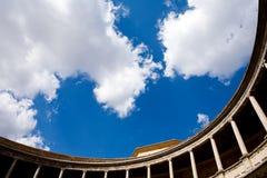 Palacio de Carlos V im Alhambra Stockfoto