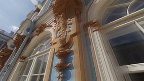 Palacio de Catherine pushkin Parque de Catherine Tsarskoye Selo almacen de video