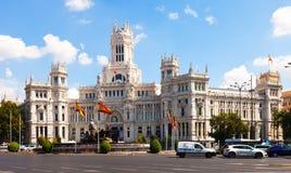 Palacio de Cibeles στην ηλιόλουστη ημέρα Μαδρίτη Ισπανία Στοκ Εικόνα