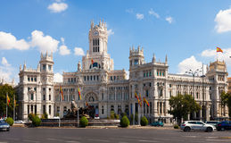 Palacio de Cibeles στη Μαδρίτη, Ισπανία Στοκ Εικόνα