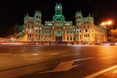Palacio de Cibeles στη Μαδρίτη, Ισπανία Στοκ φωτογραφία με δικαίωμα ελεύθερης χρήσης