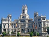 Palacio DE Cibeles/Stadhuis, Madrid Stock Afbeeldingen