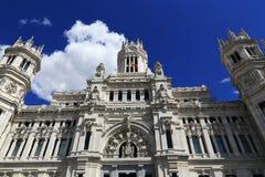 Palacio de comunicaciones, αυτός παλαιά κτήρια στη Μαδρίτη, Ισπανία Στοκ Εικόνα