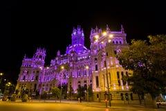Palacio de Comunicaciones, Μαδρίτη, Ισπανία Στοκ φωτογραφία με δικαίωμα ελεύθερης χρήσης