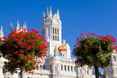 Palacio de Comunicaciones Cibeles, Мадрид Стоковые Фото