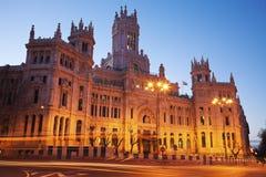 Palacio de Comunicaciones em Madrid Fotos de Stock