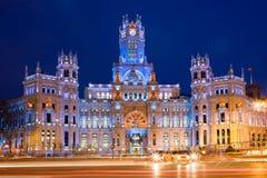 Palacio de Comunicaciones en Madrid Fotografía de archivo libre de regalías