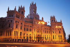 Palacio de Comunicaciones en Madrid Fotos de archivo