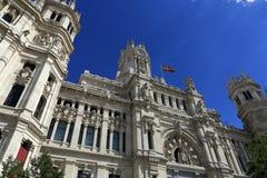 Palacio de comunicaciones, he old buildings in Madrid, Spain Stock Photo