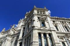 Palacio de comunicaciones, he old buildings in Madrid, Spain Stock Photography