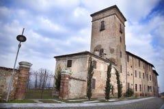 Palacio de Conti Premoli - della Battaglia de Montebello Fotografía de archivo libre de regalías