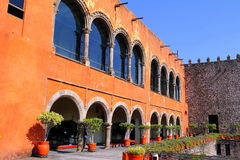 Palacio de Cortes I. Palacio de Cortes located in the city of cuernavaca, morelos, mexico Stock Photography