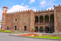 Palacio de Cortes II. Palacio de Cortes located in the city of cuernavaca, morelos, mexico Royalty Free Stock Photography