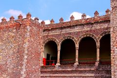 Palacio de Cortes III. Palacio de Cortes located in the city of cuernavaca, morelos, mexico Royalty Free Stock Photography