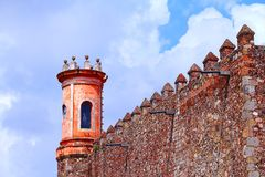 Palacio de Cortes V. Palacio de Cortes located in the city of cuernavaca, morelos, mexico Royalty Free Stock Images