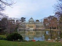Palacio de Cristal de Madrid. The Crystal Palace in Buen Retiro Park in the city of Madrid, Spain Stock Photo