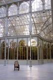 Palacio de Cristal eller Crystal Palace i Madrid royaltyfri foto