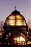 Palacio de Cristal en el parque de la ciudad de Retiro, Madrid Foto de archivo libre de regalías