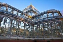 Palacio de Cristal en el parque de la ciudad de Retiro, Madrid Foto de archivo