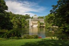 Palacio de cristal krystaliczny pałac w Buen Retiro parku - Madryt Zdjęcie Stock
