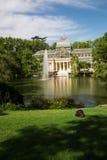 Palacio de cristal krystaliczny pałac w Buen Retiro parku - Madryt Fotografia Stock