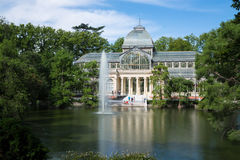 Palacio de cristal krystaliczny pałac w Buen Retiro parku - Madryt Obraz Stock