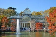 Palacio de cristal l'espagne madrid Photos stock