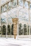 Palacio de Cristal a Madrid, Spagna fotografie stock