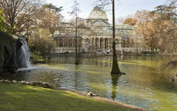 Palacio de Cristal in Madrid - Spain Royalty Free Stock Image