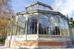 Palacio de Cristal in Madrid - Spain Royalty Free Stock Photography