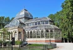 Palacio de Cristal. In Madrid, Spain Stock Image