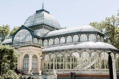 Palacio DE Cristal in Madrid, Spanje stock afbeelding