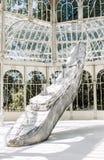 Palacio DE Cristal in Madrid, Spanje stock foto's
