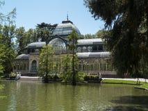 Palacio de Cristal no Madri Fotos de Stock Royalty Free
