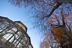 Palacio de Cristal no parque da cidade de Retiro, Madrid Fotos de Stock Royalty Free