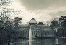 Palacio de Cristal, Parque del Buen Retiro, Мадрид Стоковая Фотография RF